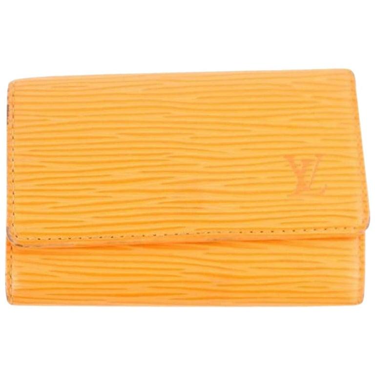 f8b6a4d394c8 Louis Vuitton Orange Epi Leather Multicles 6 Key Holder 3le107 Wallet For  Sale