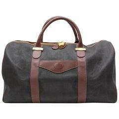 ( Rare ) Boston Duffle 82125 Black Canvas Weekend/Travel Bag