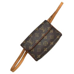 Louis Vuitton Florentine Monogram Fanny Pack Belt 231124 Brown Coated Canvas Wri