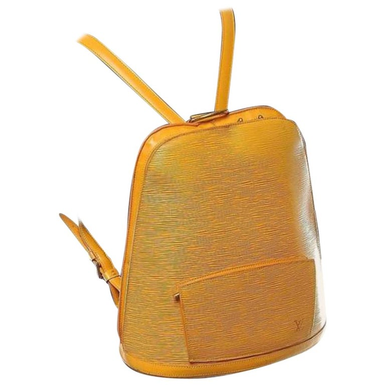 b7e62fe86de3 Louis Vuitton Gobelins 232756 Yellow Leather Backpack For Sale at ...