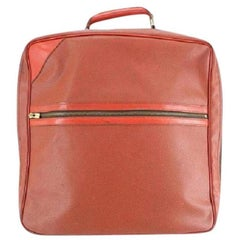 Louis Vuitton (1987 Cup ) Challenge Boston 221140 Red Leather Weekend/Travel Bag