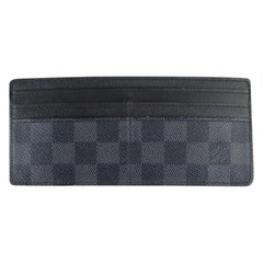 Louis Vuitton Black Damier Graphite Card Case 99lt8 Wallet