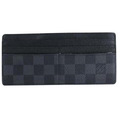 Louis Vuitton Damier Graphite Long Card Case 10lt916 Wallet