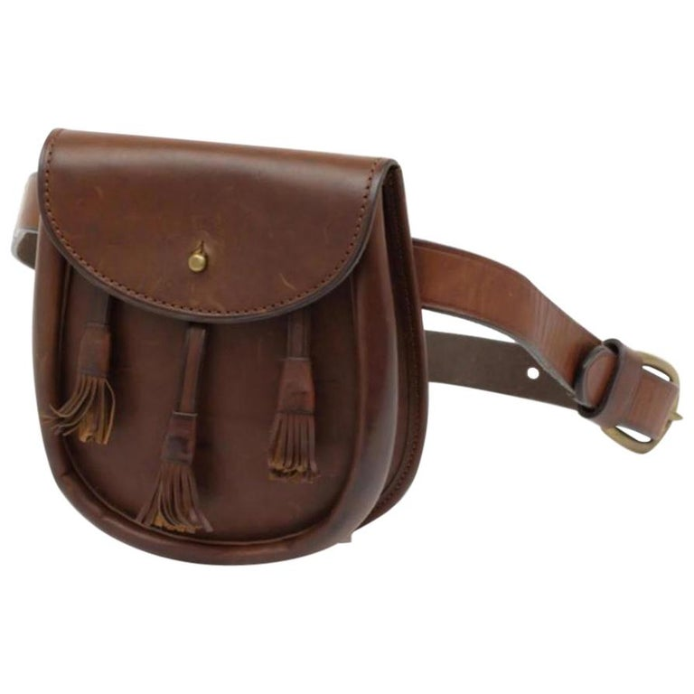 1156349b15 Ralph Lauren Waist Pouch Fanny Pack Bum 231328 Brown Leather Cross Body Bag  For Sale at 1stdibs