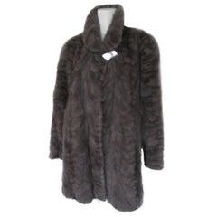 Grey Mink Fur Coat