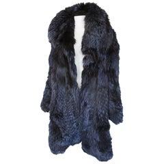Rare dyed Purple Silver Fox Fur coat