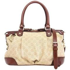 f80ef9a770cd Gucci Sukey Diamante Monogram Medium Top Handle 2way 234024 Shoulder Bag