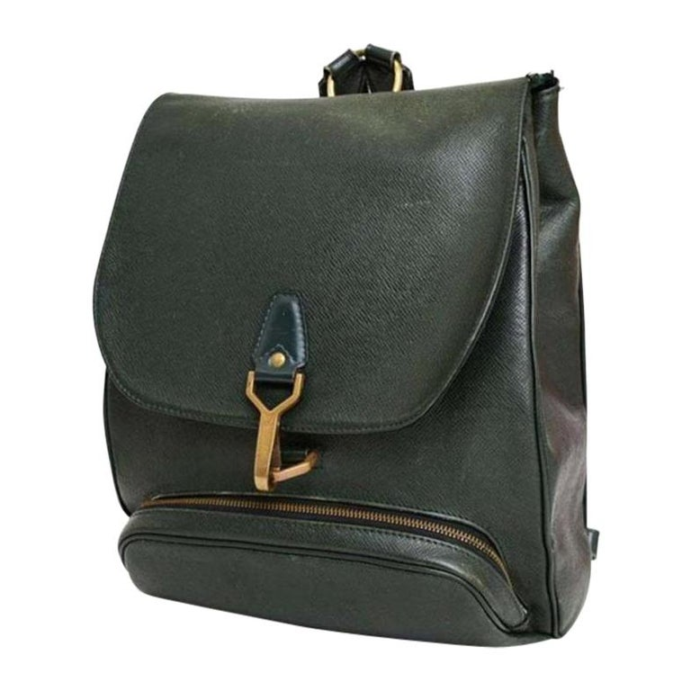 40fadbda5fb9 Louis Vuitton Cassiar 233589 Green Leather Backpack For Sale at 1stdibs