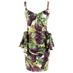 Dolce & Gabbana Aubergine Print Dress US 4