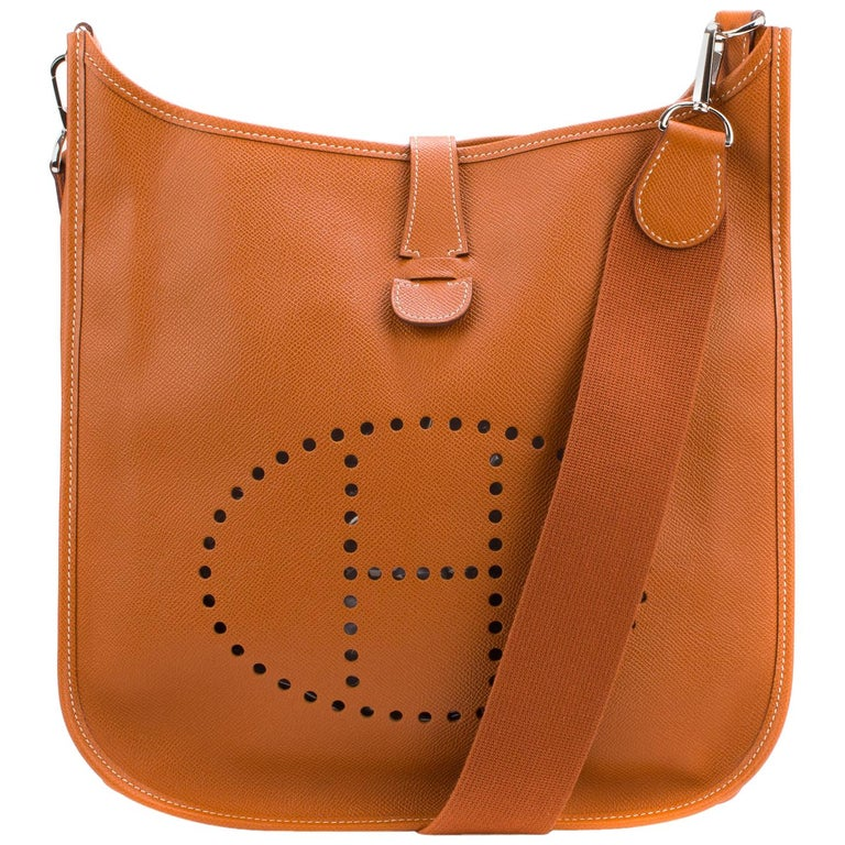 3ecc49daea470 Hermes Evelyne GM Camel Epsom Leather bei 1stdibs