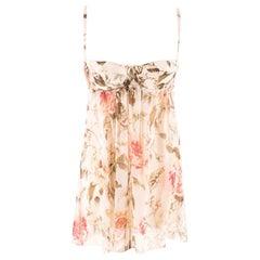 Dolce & Gabbana Rose-Print Underwired camisole top US 6