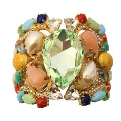 Carlo Zini Multicolored Crystals Bracelet