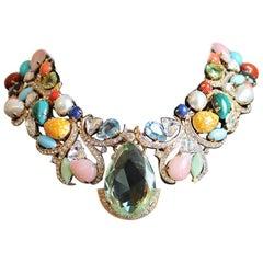Carlo Zini Multicolored Crystals Necklace