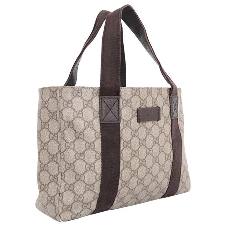 21f8954b6761de Gucci Gg Monogram Supreme Shopper Tote 230604 Brown Coated Canvas Shoulder  Bag For Sale at 1stdibs