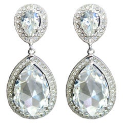 Carlo Zini Crystal Drop Earrings