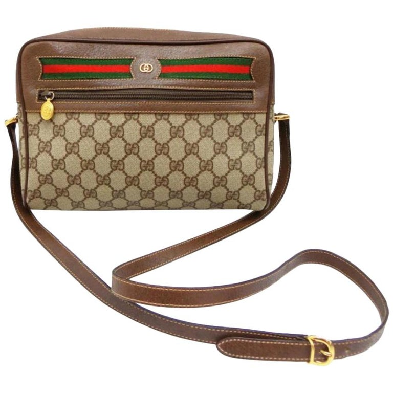 b3ef63cfd525 Gucci Supreme Monogram Gg Ophidia Medium Camera 232355 Cross Body Bag For  Sale