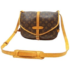 Louis Vuitton Saumur Monogram 30 Saddle Pm Messenger 231454 Brown Coated Canvas