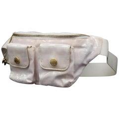 Chanel New Line Belt Fanny Pack Waist Pouch 232758 Pink Nylon Cross Body Bag caadae2c4210b