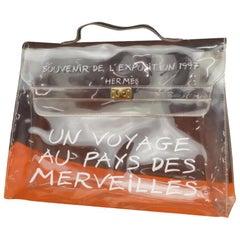 Hermès Kelly Souvenir Limited Edition L'exposition Translucent 231323 Clear X Wh
