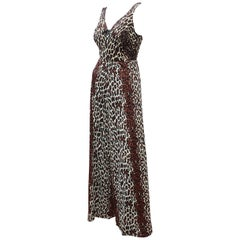 1960's Cole of California Leopard Print Bathing Suit With Cover Up Pants