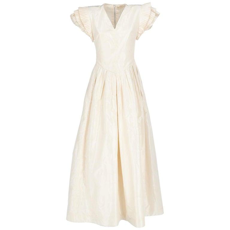 1990s Nina Ricci Silk Wedding Dress For Sale