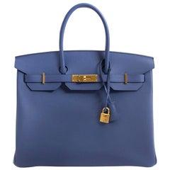 Hermès Birkin 35 Blue Brighton Epsom GHW