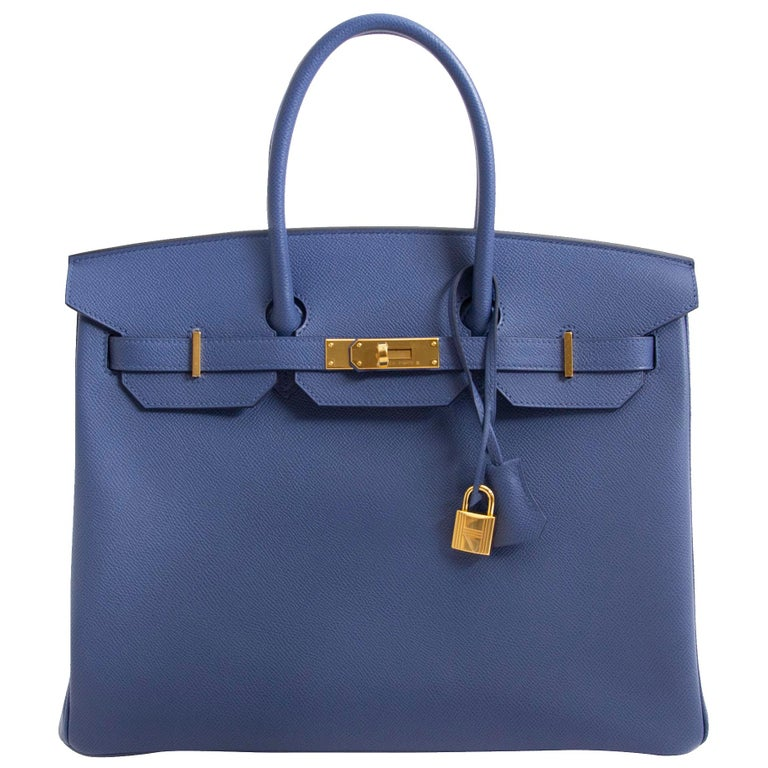 Hermès Birkin 35 Blue Brighton Epsom GHW For Sale at 1stdibs b94ed84776
