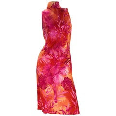 S/S 2000 Vintage Gianni Versace Couture Palm Print Dress