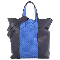 Bottega Veneta Convertible Open Tote Leather and Intrecciato Nappa Large