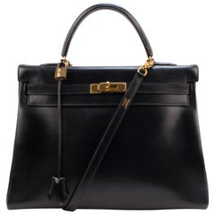 Hermes Kelly 35 box Black