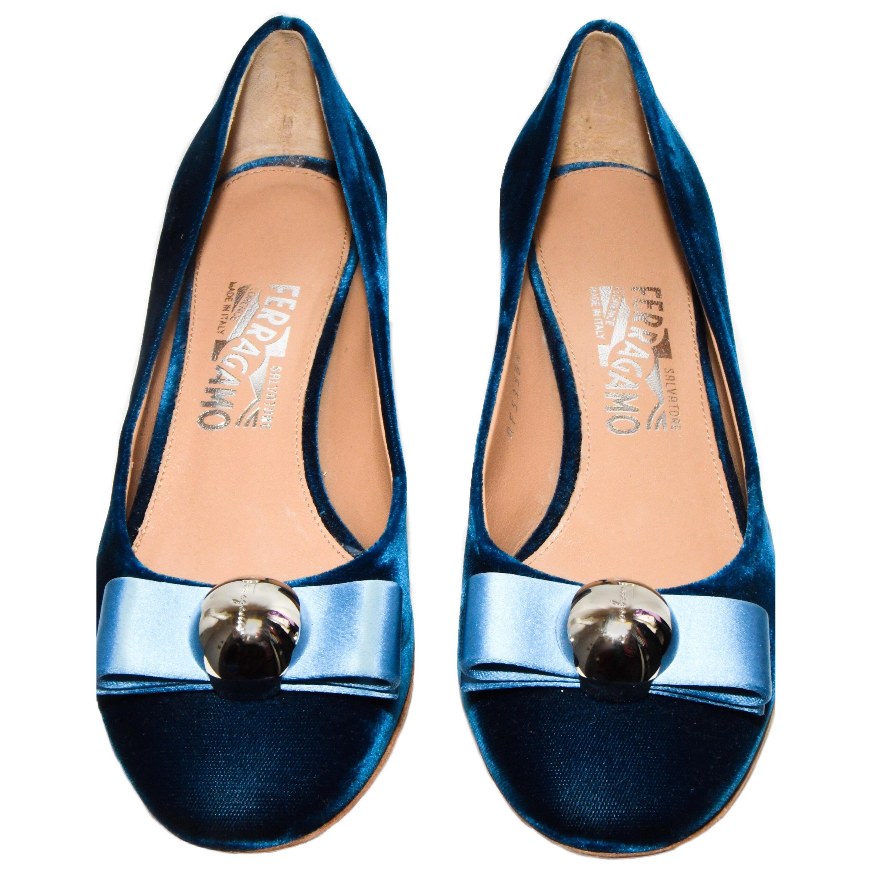 c8501176cfe Superb Salvatore Ferragamo Varina Patent Calf Leather Ballerina Flats at  1stdibs