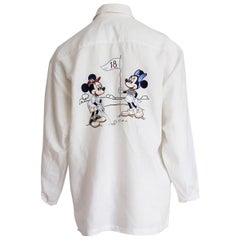 """DONALDSON  """"New"""" for 18th Anniversary Mickey Mouse Linen Collection Shirt-Unworn"""