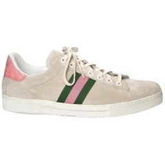 New Tom Ford for Gucci Crocodile and Suede Sneakers Tennis Shoes Flats Sz 9.5