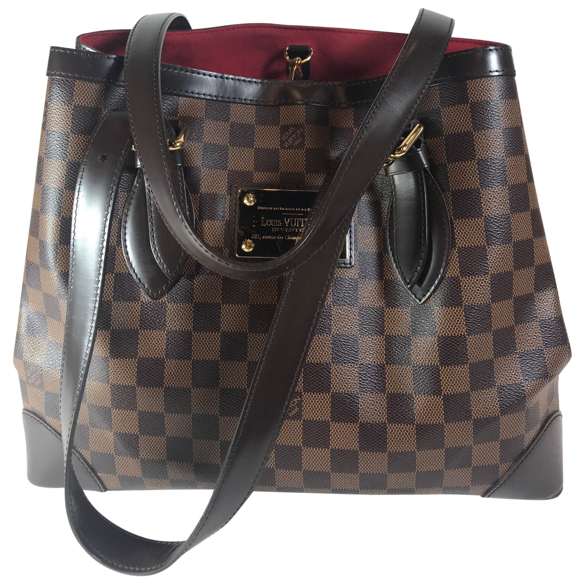 7087a2140cb4 Louis Vuitton Damier Ebene Hampstead PM at 1stdibs