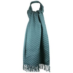 Holland and Holland Pleated Cashmere Scarf