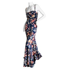 Roberto Cavalli for Just Cavalli  Vintage Floral Evening Dress