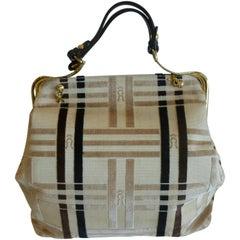 Italian Roberta di Camerino Cut Velvet Handbag