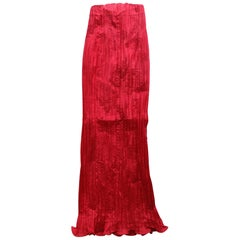 1980s Bernard Perris Couture Silk Crepe High Waisted Skirt