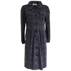 Flora Kung printed wool jersey knit NWT coat dress