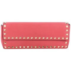 Valentino Rockstud Bracelet Clutch Leather Long