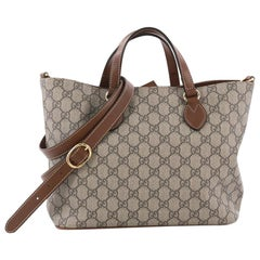 Gucci Convertible Soft Tote GG Coated Canvas Small