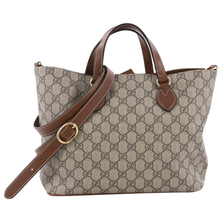 7dd6883f9044 Gucci Convertible Soft Tote GG Coated Canvas Small at 1stdibs