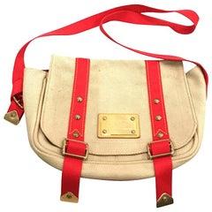 fe2965345 Louis Vuitton Limited Edition Antigua Besace Pm 232868 Beige Canvas  Shoulder Bag