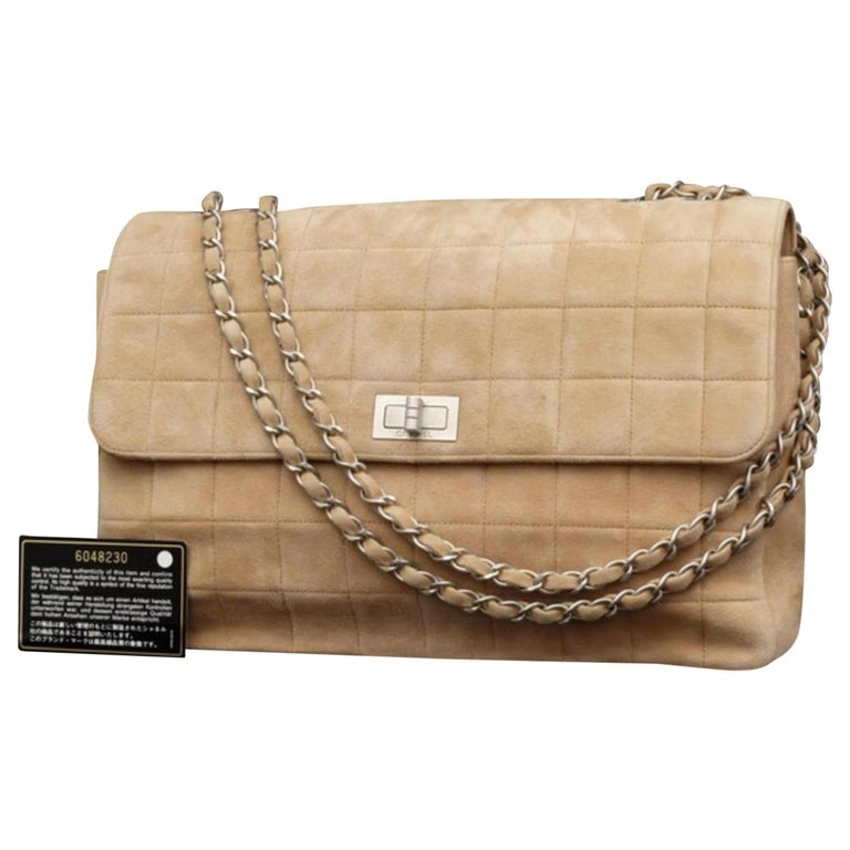 d755259d317c Chanel 2.55 Reissue Quilted Chocolate Bar Jumbo Flap 231371 Brown Shoulder  Bag For Sale