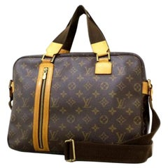 Louis Vuitton Bosphore Monogram Briefcase 220196 Brown Coated Canvas Messenger B