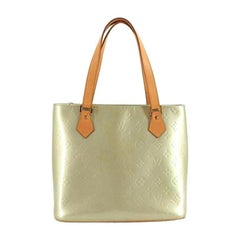 Louis Vuitton Houston Monogram Vernis 220519 Gris Coated Canvas Tote