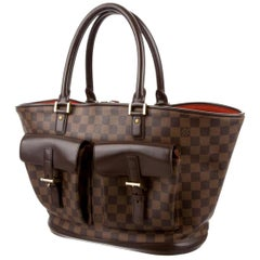 Louis Vuitton Manosque Damier Ebene Gm 223979 Brown Coated Canvas Tote
