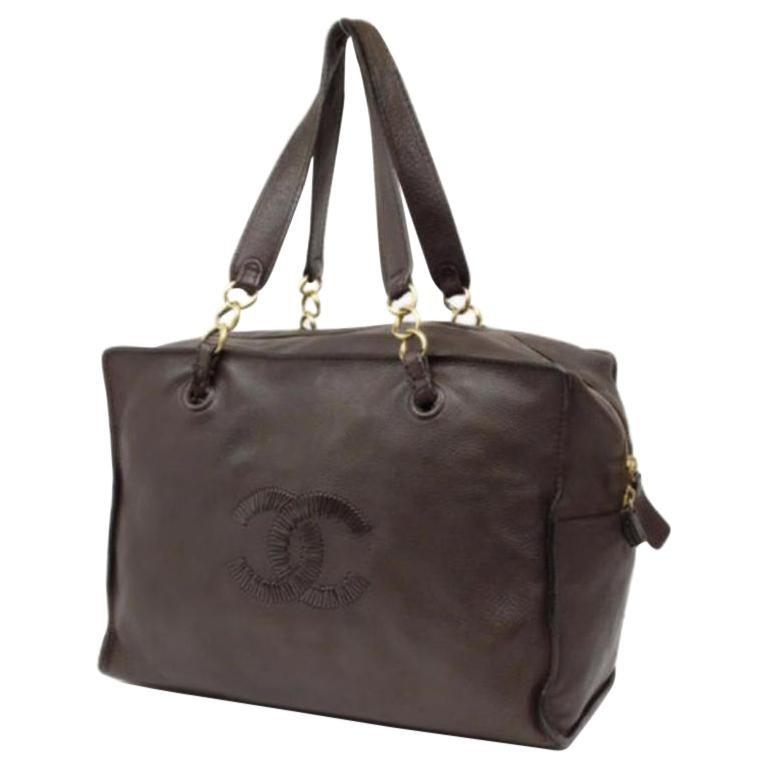 57d4ea6b1c2c1e Chanel Boston 223850 Brown Leather Shoulder Bag For Sale at 1stdibs