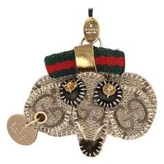 Gucci Brown Supreme Gg Sherry Monogram Web Bag Or Mobile Charm Pendant 230400