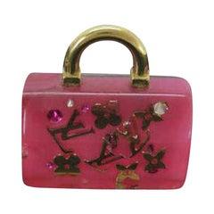 Louis Vuitton Pink Speedy Fleur Inclusion Bag Charm 232610